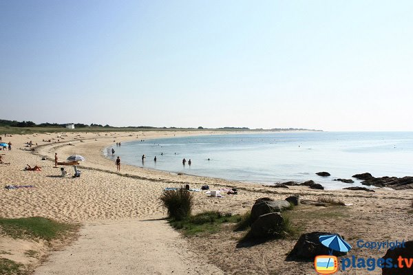 Luzéronde beach in Noirmoutier in France