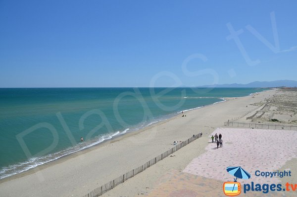 Foto spiaggia Lydia, Vista verso sud, Port Barcarès