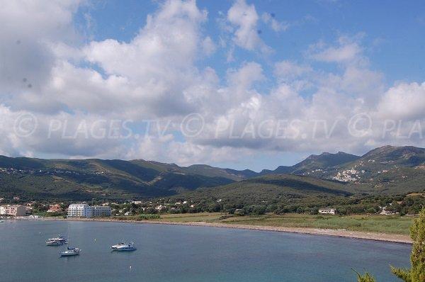 Plage de Macinaggio dans le Cap Corse