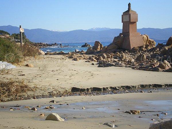 Vignola beach in Ajaccio