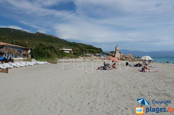 Photo of Macumba beach and view on monument - Ajaccio