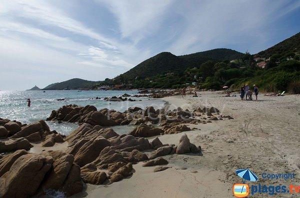 Plage de Macumba avec vue sur les iles sanguinaires - Ajaccio