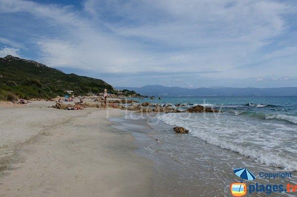 Plage avec du sable fin à Ajaccio