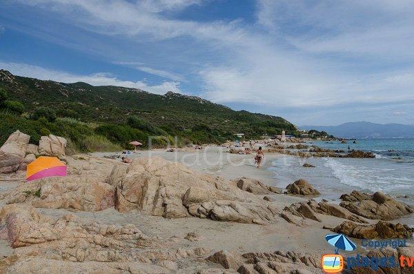 Macumba beach in Ajaccio in Corsica