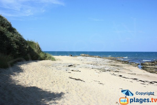 Beach in the north of Noirmoutier - La Madeleine