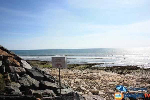 Accès à la plage de Madoreau - Jard sur Mer