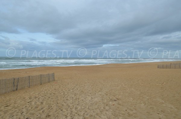 Public supervised beach in Anglet in France