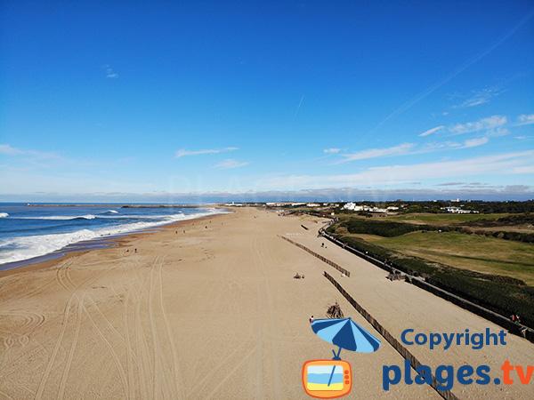 Photo de la plage de la Madrague à Anglet