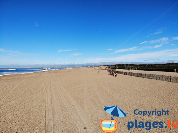 Grande plage de la Madrague à Anglet