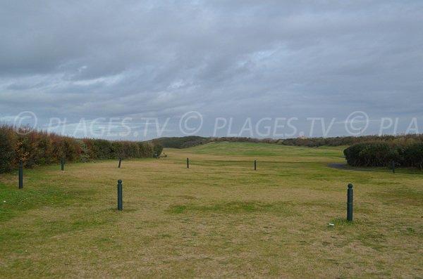 Lawns around Madrague beach in Anglet