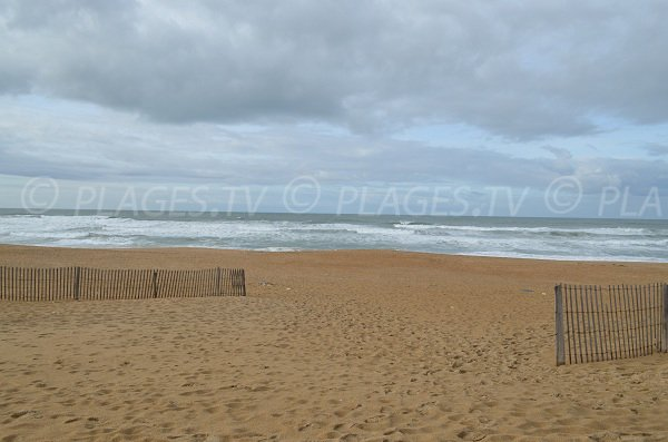 Madrague beach in Anglet in France