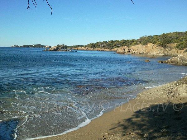 Foto della spiaggia della Madrague a Hyères