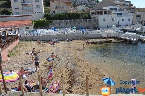 Madrague beach in Marseille