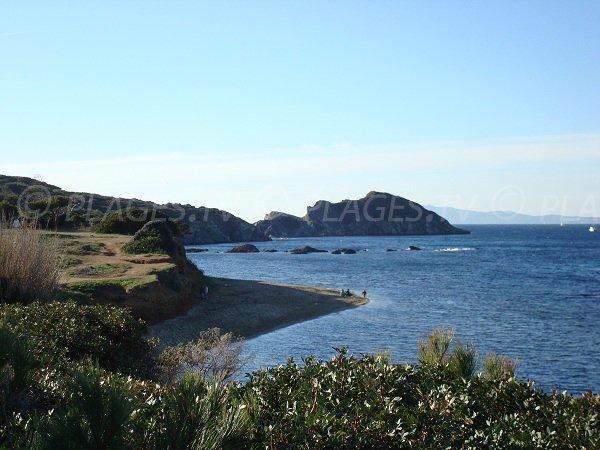 Spiaggia La Madrague nella penisola di Giens