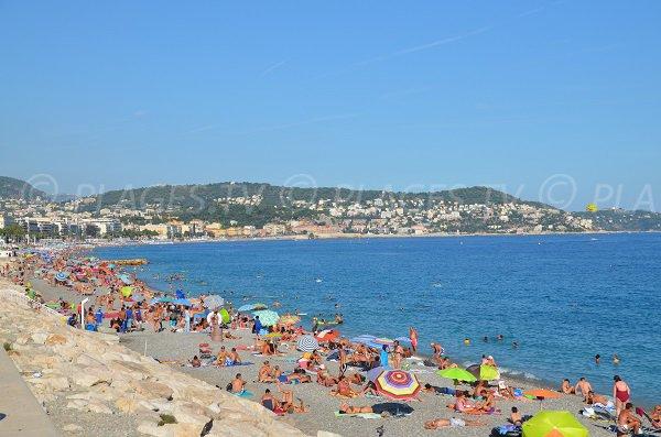 Photo de la plage de Magnan en été - Nice