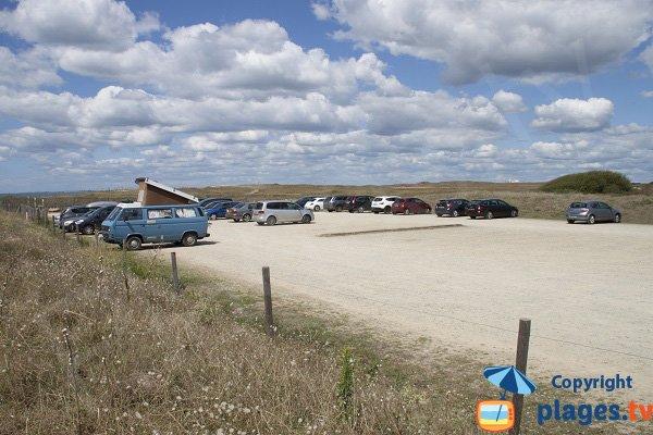 Parking de la plage de Magouero à Plouhinec