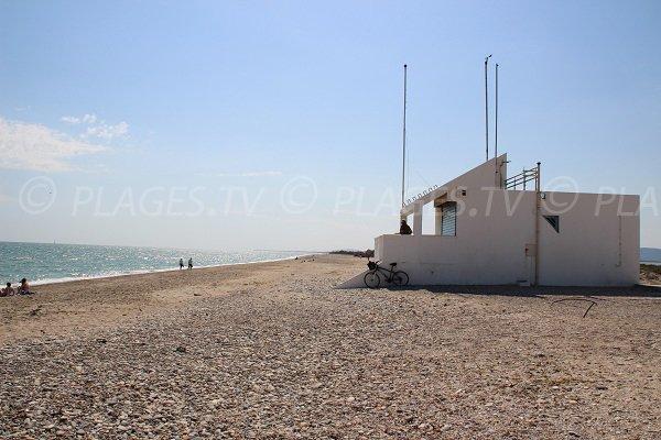 Poste de secours de la plage de Maguelone
