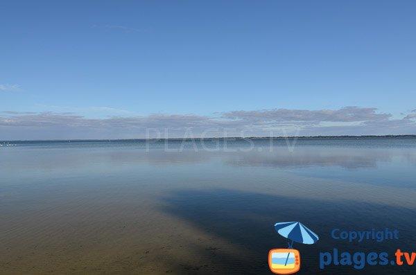 Lac de Biscarrosse au niveau de la plage Maguide