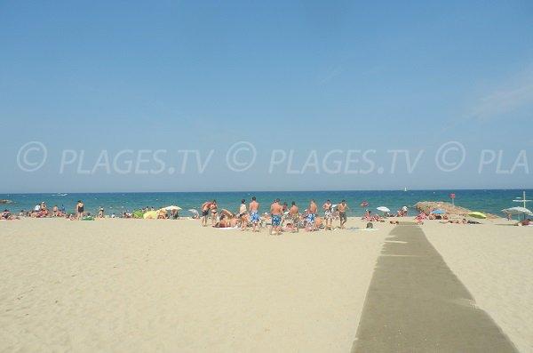 Accès à la plage Maillol de St Cyprien