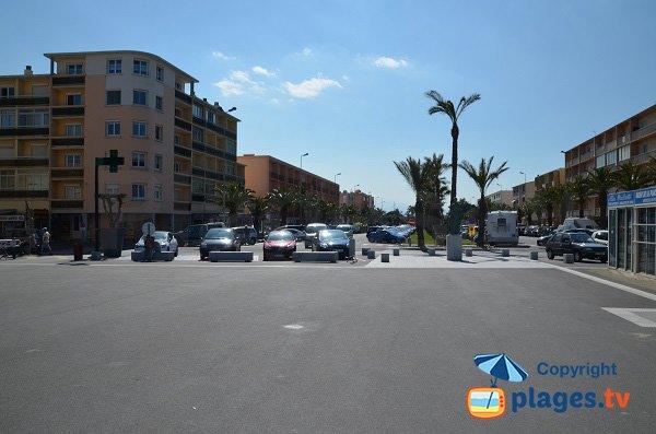Immeubles autour de la plage Maillol  - St Cyprien