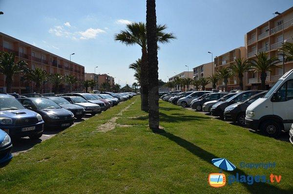 Parking de la plage Maillol - Saint-Cyprien