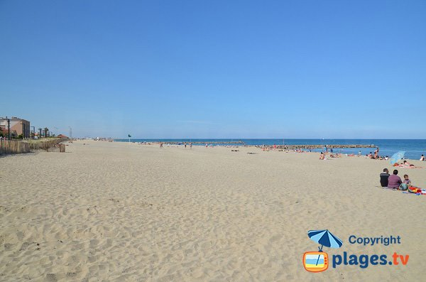 Maillol beach in Saint Cyprien in France