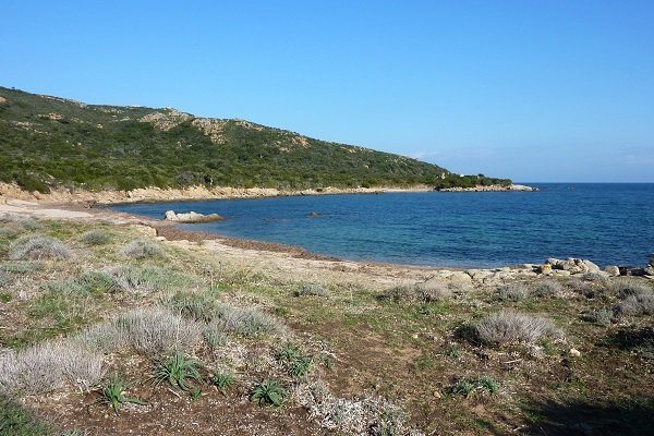 Coastal path around Majalone beach in Bonifacio