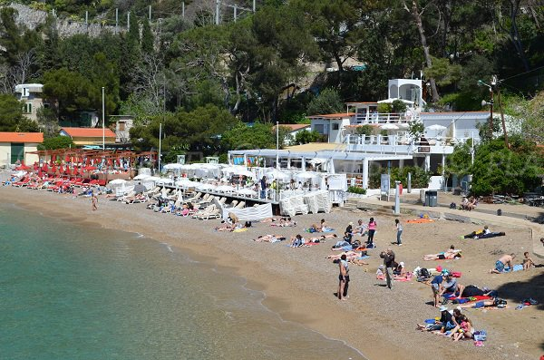 Restaurants on the mala beach in Cap d'Ail