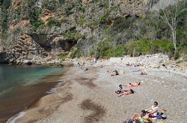 Ciottoli sulla spiaggia Mala