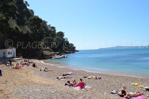 Mala beach with view on Saint Jean Cap Ferrat