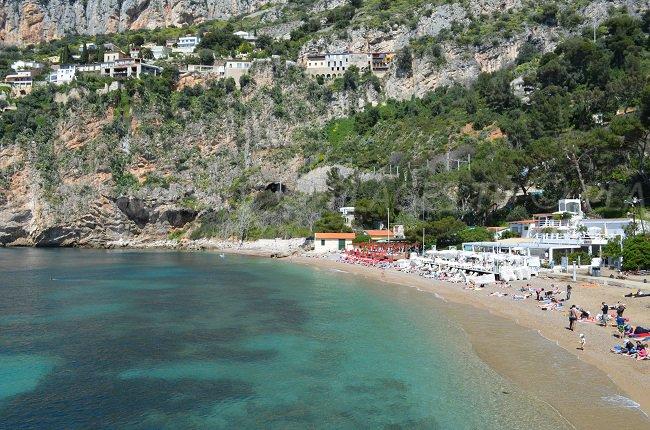 Mala Strand in Cap d'Ail Blick von der Küste weg