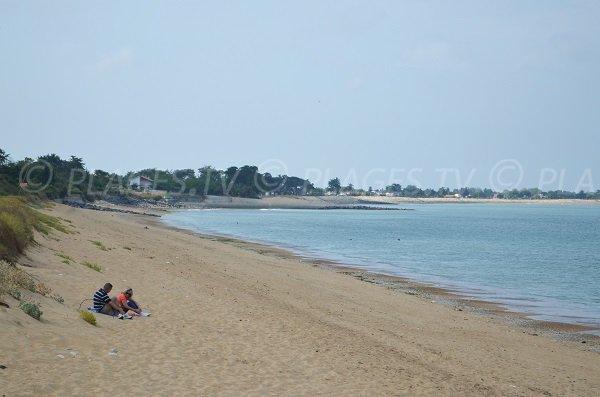 Extrémité de la plage de Malaiguille à La Brée les Bains