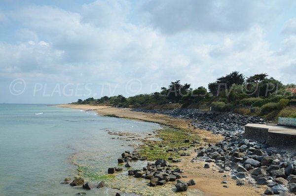 Partie nord de la plage de Malaiguille