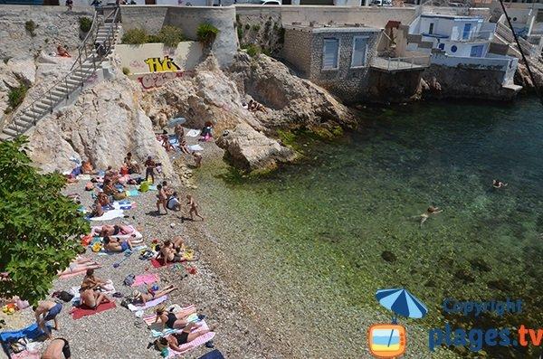 Foto della spiaggia di Maldormé a Marsiglia - Francia