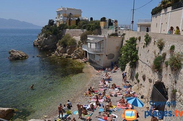 Spiaggia vicino all'Hotel Petit Nice - Marsiglia