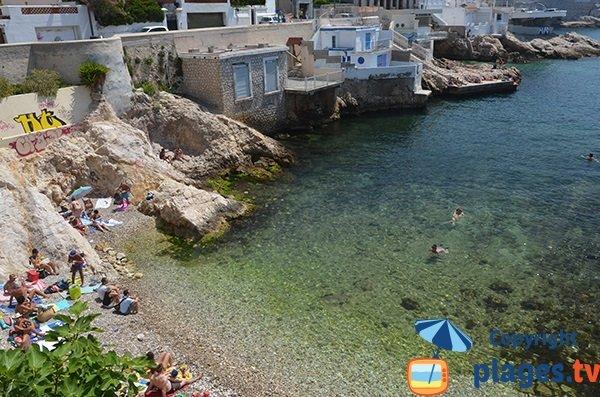 Maisons de pêcheurs dans l'anse de Maldormé - Marseille