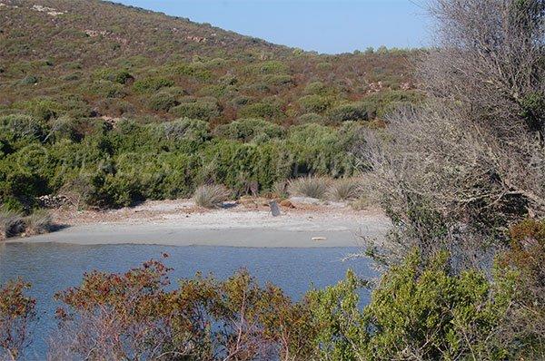 Crique dans l'anse de Malfalco dans le désert des Agriates