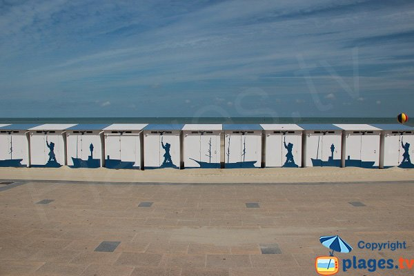 bathing huts in Dunkerque in France
