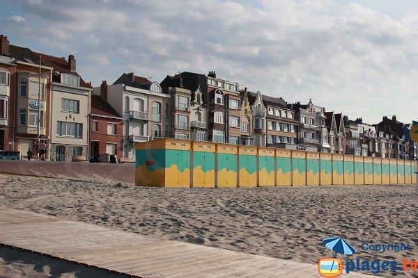 Accès aménagé pour les PMR sur la plage de Dunkerque