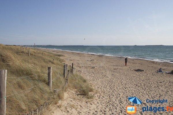 Mané Guen beach in Plouharnel - Bay of Quiberon