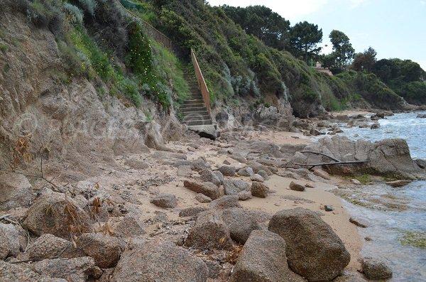 Access to Maquis beach in Porticcio