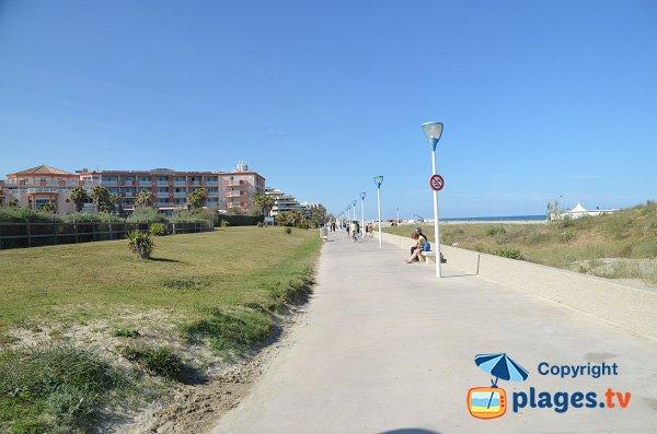 Photo de la promenade Trenet au Canet-Plage