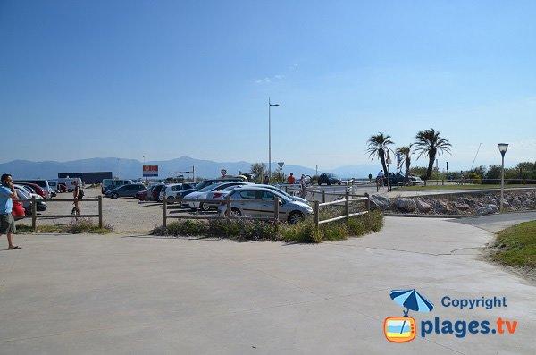 Parking de la plage Mar Estang du Canet