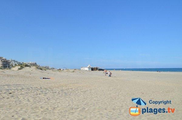 Plage de Mar Estang au Canet en Roussillon