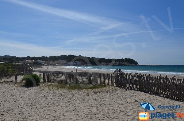 Photo of Sablettes beach in La Seyne sur Mer in France