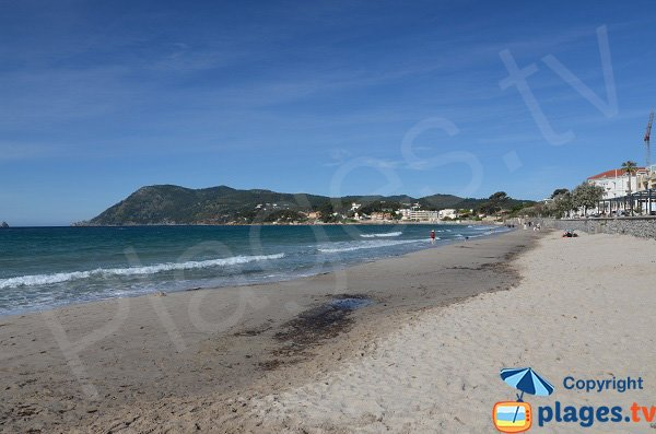 Photo de la plage des Sablettes avec vue sur Mar Vivo - La Seyne sur Mer