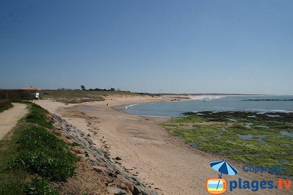 Rochers sur la plage du Marais Girard - Brétignolles sur Mer