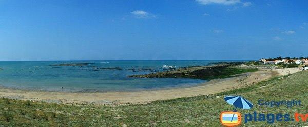 Panorama de la plage du Marais Girard de Brétignolles en Vendée