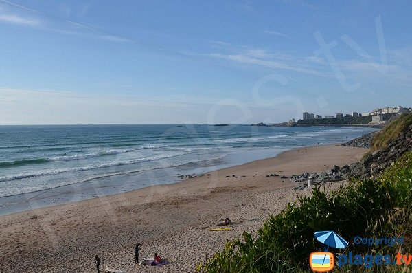 View on Biarritz from Marbella beach