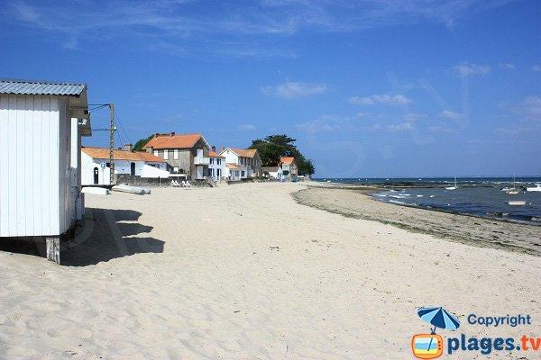 Maisons le long de la plage de Mardi Gras - Noirmoutier